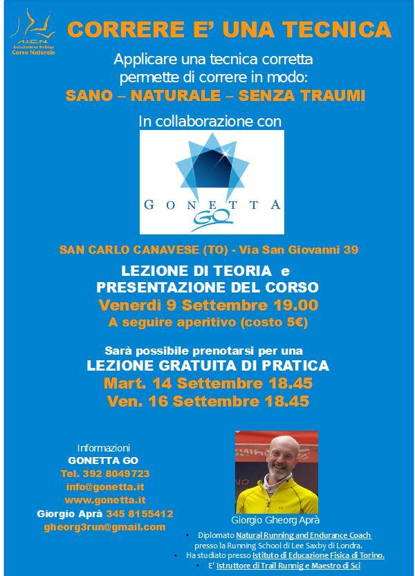 Locandina 2 Natural Running 16 Gonetta Ciriè