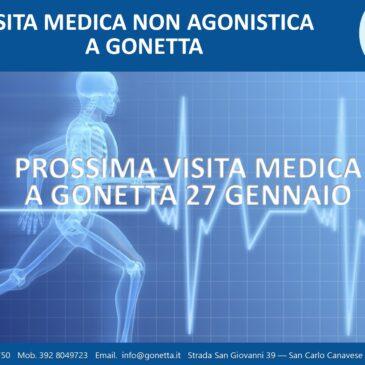 PROSSIMA DATA VISITA MEDICA 27 GENNAIO
