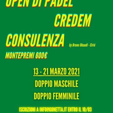 Open Padel Credem 2021